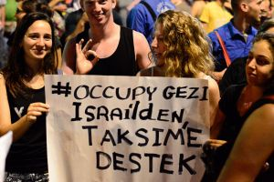 israel solidarity with taksim at vat demo by avivi