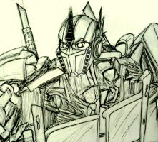 Quick Sketch: Optimus Prime by InkArtWriter