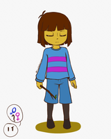 Undertale - The Human by CrystalViolet500