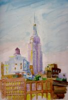 Empire State Watercolour by 80sdisco