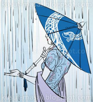 Blue Parasol by Celestial4ever