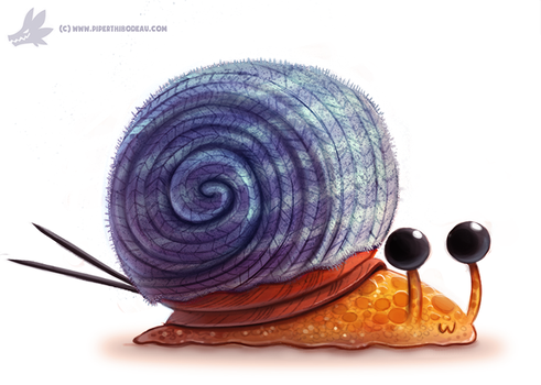 Daily Paint #1101. Knitted Snail Shell by Cryptid-Creations