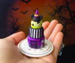 Halloween Disney Graveyard Tiered Cake by TheMicroBakery