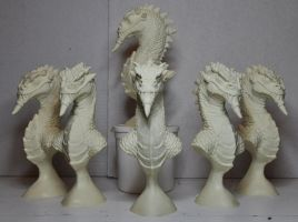 Grinning Stone Dragon bust kit: Castings for sale! by AntWatkins