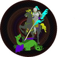 Saint George and the dragon - For All Who Suffer by FractalBee