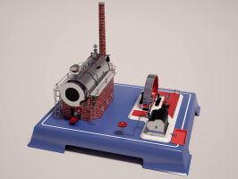 Wilesco D20 Steam Engine by undeathspawn