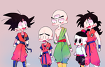 Goku and the HUMANs by Innastar
