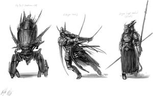 Character concepts (classwork) by PeterPrime