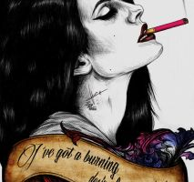 Burning Desire - Lana Del Rey by LucyRedfield