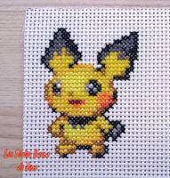 #172 Pichu Cross Stitch by barteletjess