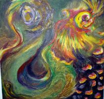 Rooster painting by remdesigns