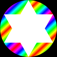 gradient circle and white hexagram by 10binary