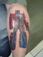 Optimus Prime by dragontattooist