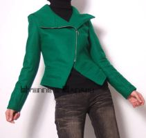 Green Wool Hooded Jacket 6 by yystudio