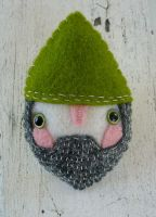 Noble Gnomey Birthday Brooch by Hannakin