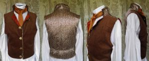 Steampunk-Victorian inspired waistcoat by JanuaryGuest