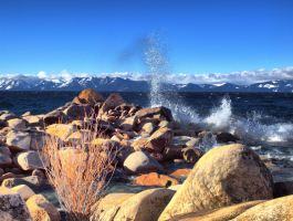 Tahoe waves by MartinGollery