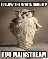 Hipster Owl by stinglacson