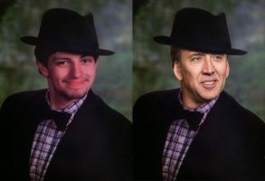Classy Nicholas Cage by TeaBeeAdventures