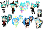 Halloween Chibis 2012 by Aira-Melody