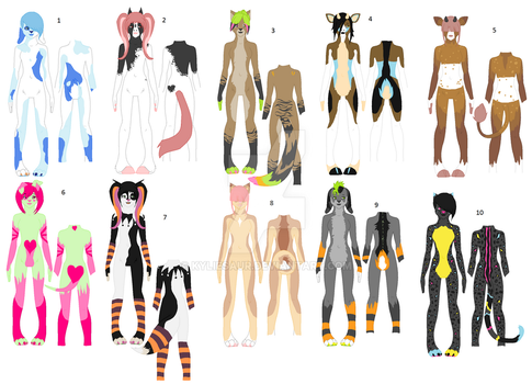 Anthro Point Adopts - CLOSED by Kyliesaur
