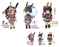ADOPTABLE SET 22: Magic Rabbits! | CLOSED by CARPFISH