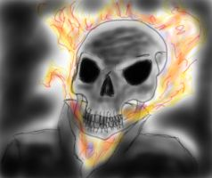 Ghost Rider using mah new Tablet by Gabbyartisto3o
