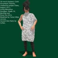 3D Clothing Asymmetric Poncho by ibr-remote