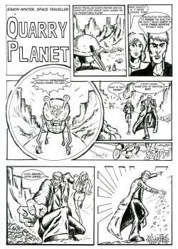 Quarry Planet Page One by exilewood
