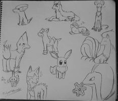 Pokemon doodles by Ricky47