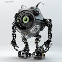 Beetle-like robotic creature by Ociacia