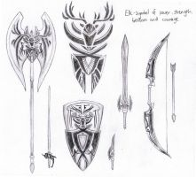 Elk Weapon Set by cheungygirl
