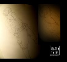 Gray Fullbuster final sketch by Deadlytwins