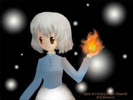Sophie and Calcifer by haine905