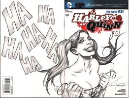 Harley Quinn sketch cover by VinRoc