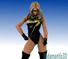 Miss Marvel 3d by Radamantis3d