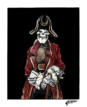 A Skeleton Pirate's Portrait by heidel