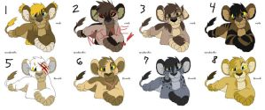 Lion Cub Adoptables 3 GONE by Kasara-Designs