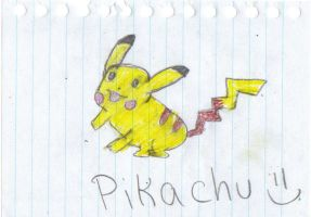 Fail-ish Pikachu Drawing by emberstar13