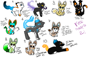 [FREE ADOPTABLES 2] [CLOSED] by Punk-Mutt