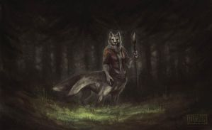 Wolftaur in the  woods by tar101