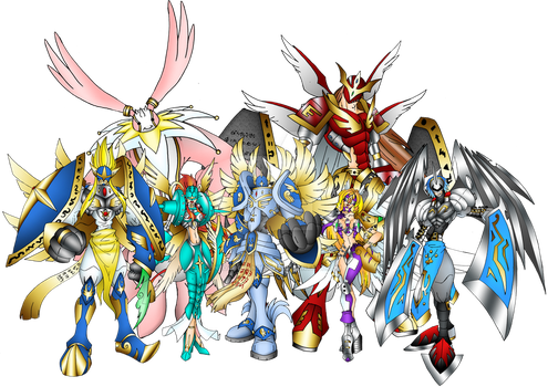THE CELESTIALS (GREAT ANGELS) by neoarchangemon