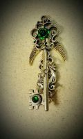 Emerald Valkyrie Fantasy Key by Starl33na