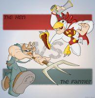 The Hen versus The Farmer by Bosshamster