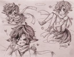 Sketch Page Commission #2: Kimyou by OtakuPup