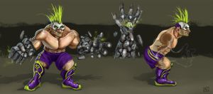 MAD WRESTLERS: Gonzo the Skullcrusher by ne0n1nja