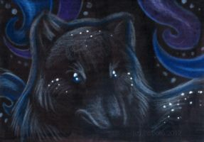 Mysterious Nights - ACEO trade by PoonieFox