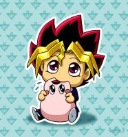 Yugi Nomming On Marshmallon by Red-Flare