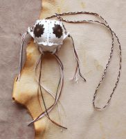 Coyote skull necklace pouch by lupagreenwolf