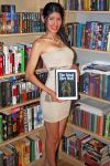 Me and my book The Great Dire Wolf by thejoannamendez